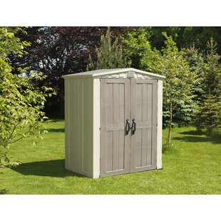 factor 5 ft 10 in w x 3 ft 9 in d plastic tool shed - Garden Sheds 5 X 9