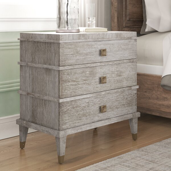 Massimo 3 Drawer Nightstand by Mistana