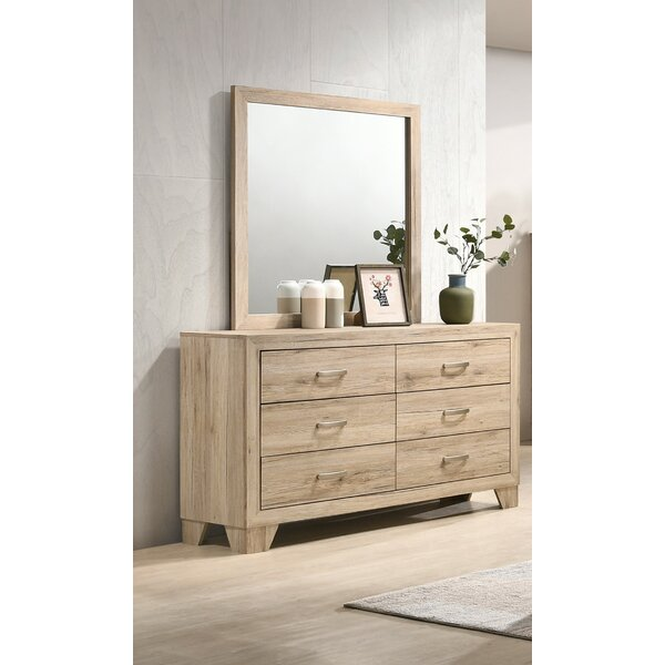 Neo 6 Drawer Double Dresser with Mirror by Millwood Pines
