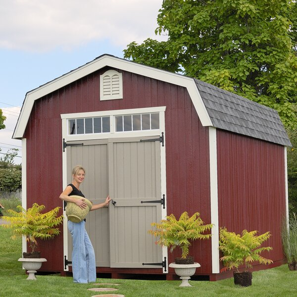 Colonial Bury Wooden Storage Shed by Little Cottage Company