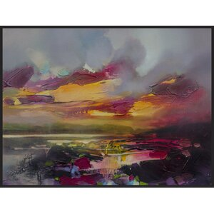 'After Sunset' Framed Painting Print on Wrapped Canvas by Brayden Studio