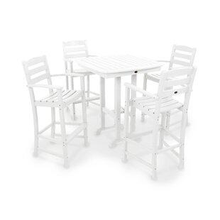 La Casa Café 5-Piece Bar Height Dining Set ByPOLYWOOD®