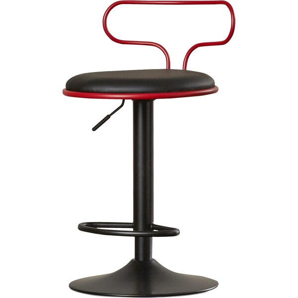 Jasvinder Adjustable Height Swivel Bar Stool by Orren Ellis