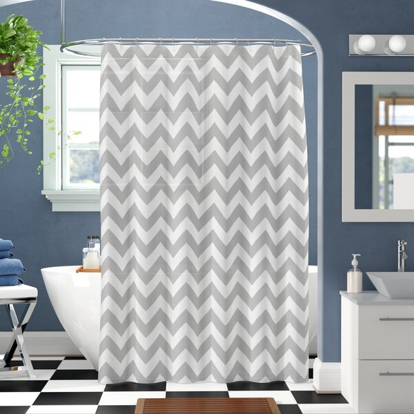 Raminez Chevron Shower Curtain by Wrought Studio