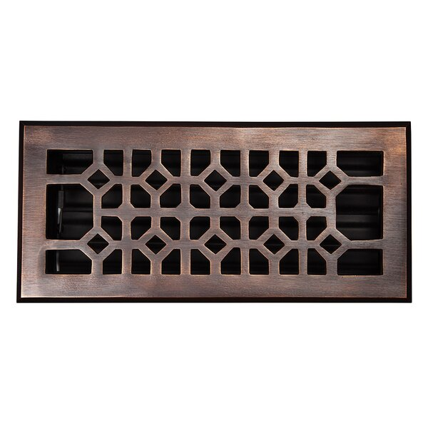 4 x 10 Copper Floor Register by The Copper Factory