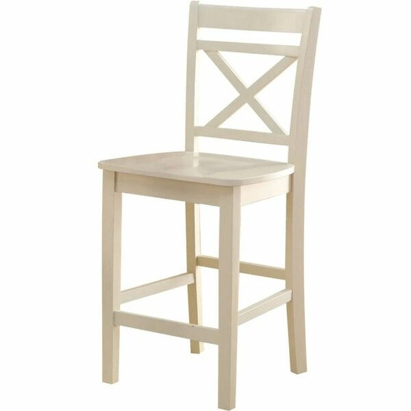 Scruggs Cross Back Side Dining Chair In Cream (Set Of 2) By Rosalind Wheeler