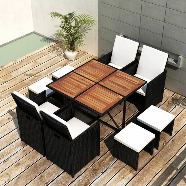 Rosenberry 9 Piece Dining Set with Cushions by Brayden Studio