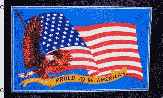 Proud to be American Traditional Flag by Flags Importer