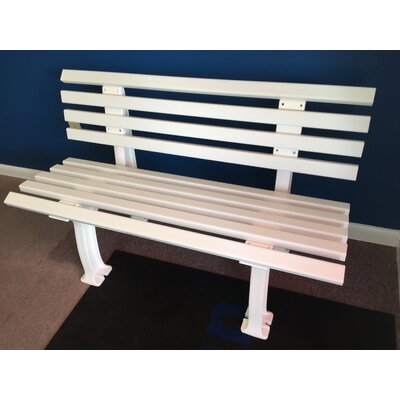 Aidan Courtside Plastic Park Bench Freeport Park Color: White