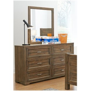 High-End Logan 6 Drawer Double Dresser ByMy Home Furnishings