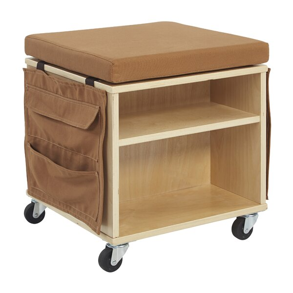 Helpful Little 2 Compartment Teaching Cart with Casters by ECR4kids