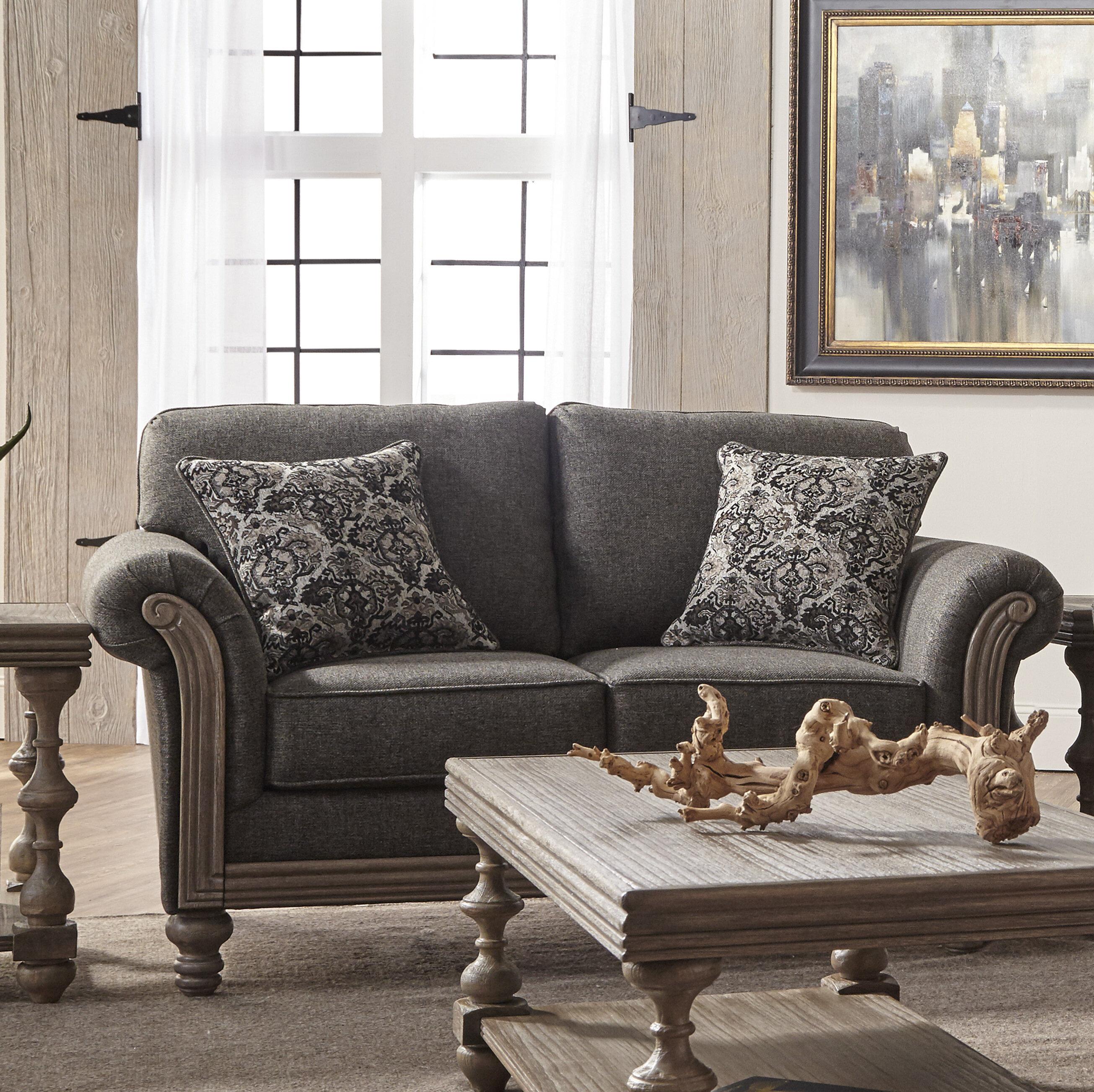 Alcott Hill Hubbert Contemporary Textured Fabric Wood Frame Standard ...