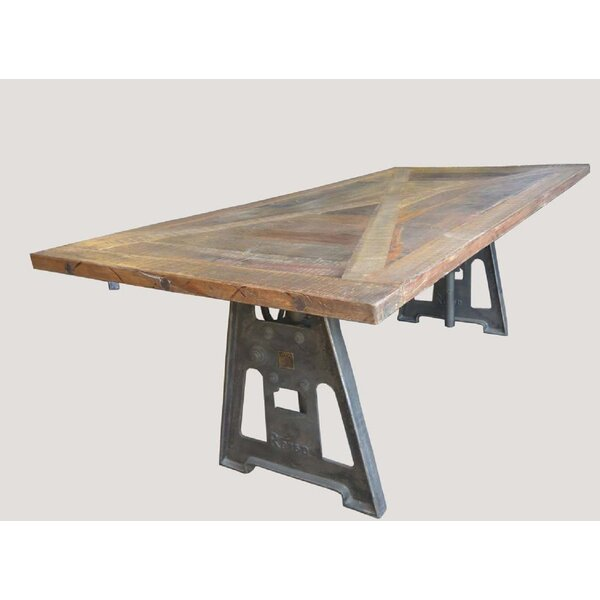 Wilde Reclaimed X Top Adjustable Crank Dining Table by 17 Stories 17 Stories