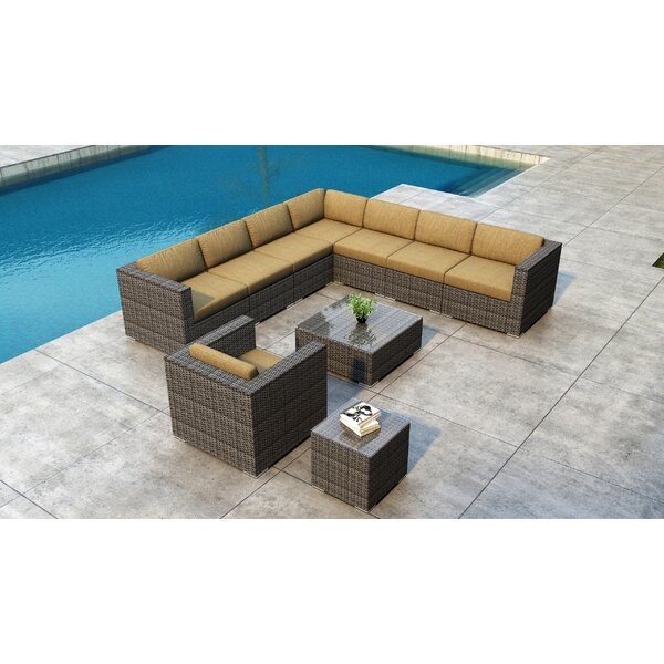 Gilleland 10 Piece Sectional Set with Sunbrella Cushion by Orren Ellis
