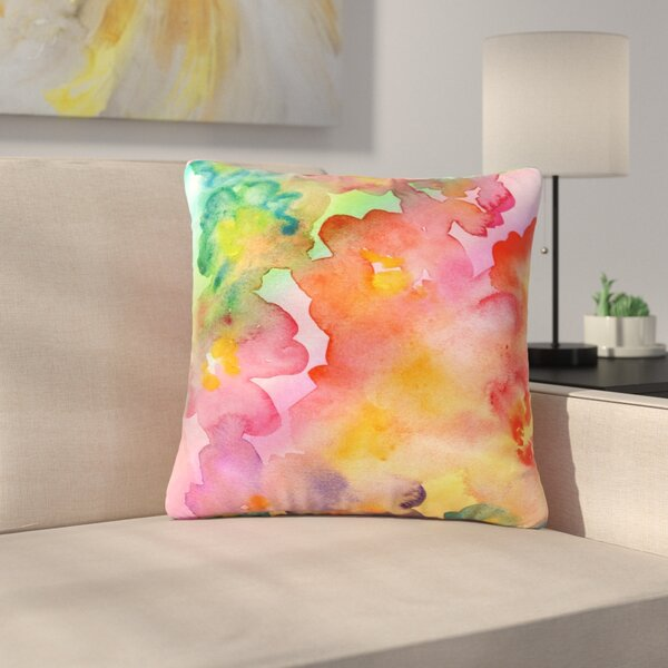 Louise Machado Spring Colours Floral Outdoor Throw Pillow by East Urban Home