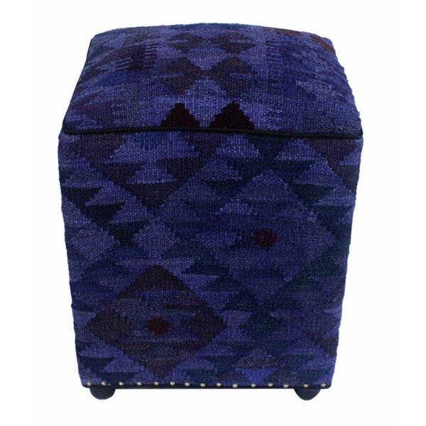 Branton Kilim Cube Ottoman by Union Rustic