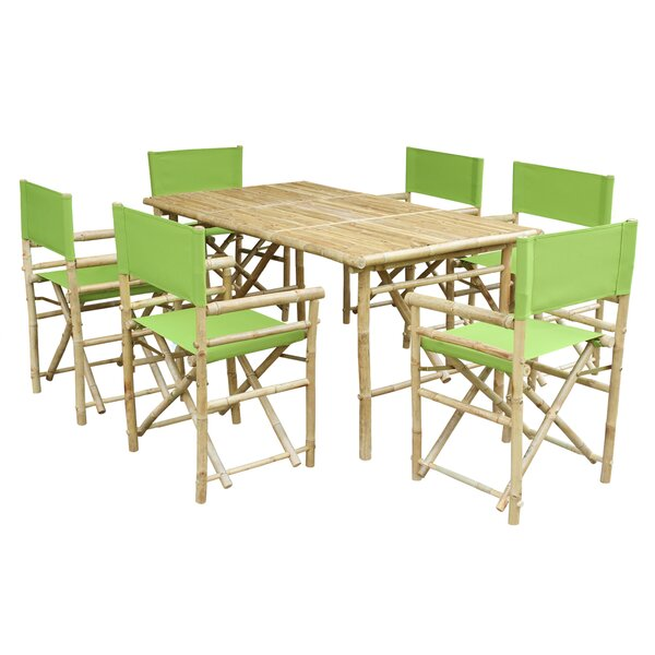 Collin 7 Piece Solid Wood Dining Set by Bay Isle Home