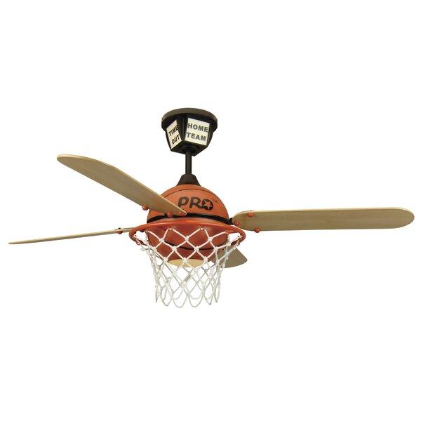 52 Destiney ProStar Basketball 4-Blade Ceiling Fan with Remote by Zoomie Kids