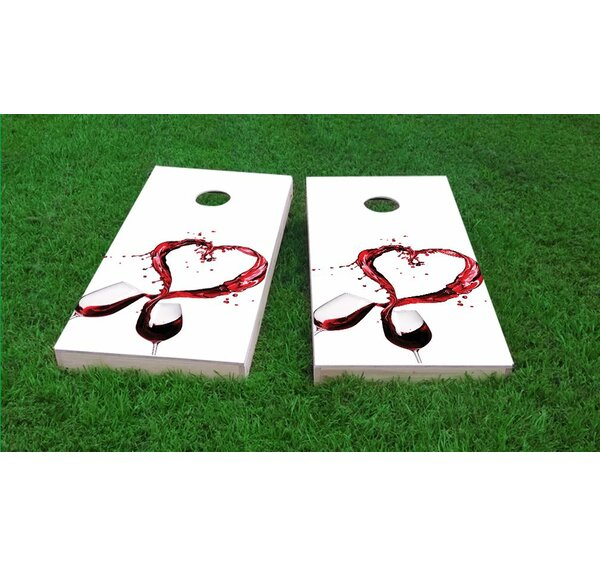 Wine Lover Light Weight Cornhole Game Set by Custom Cornhole Boards