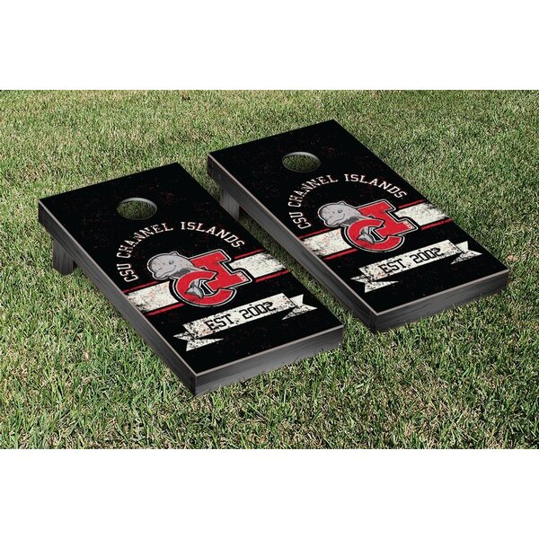 California State Channel Islands Dolphins Banner Vintage Version Cornhole Game Set by Victory Tailgate