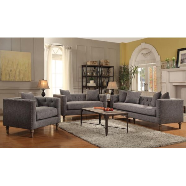 Neva 3 Piece Living Room Set by Laurel Foundry Modern Farmhouse