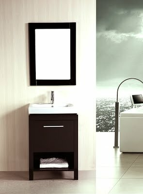 24 Single Bathroom Vanity Set with Mirror by Kokols