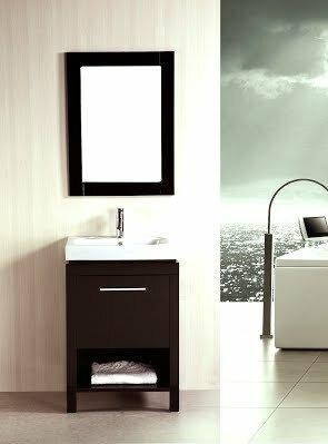 24 Single Bathroom Vanity Set with Mirror by Kokols