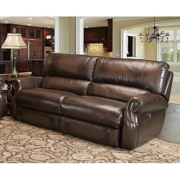 Jedicke Reclining Leather Sofa by Winston Porter Winston Porter