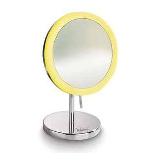 Low priced Kenner Freestanding LED Round Makeup/Shaving Mirror By Symple Stuff