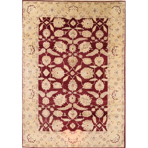 One-of-a-Kind Batley Oushak Agra Egypt Oriental Hand-Knotted Wool Red/Burgundy Area Rug by Canora Grey
