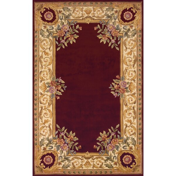 Laurel Hand-Tufted Burgundy/Beige/Ivory Area Rug by Astoria Grand
