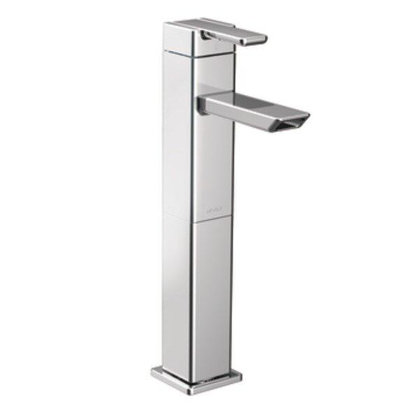 90 Degree Single Hole High Arc Vessel Bathroom Faucet by Moen