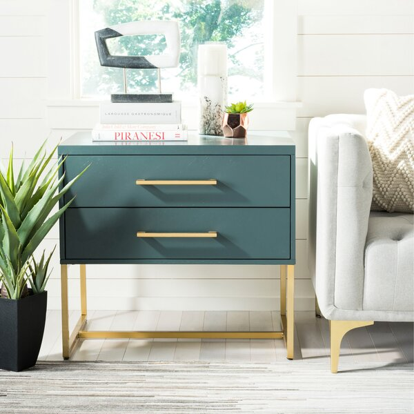 Ally 2 Drawer Nightstand by Everly Quinn