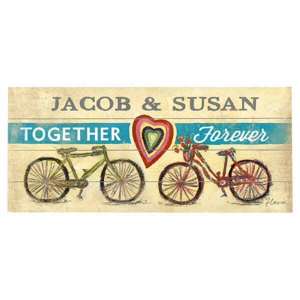 Personalized Together Forever Graphic Art Print Multi-Piece Image on Wood by Artehouse LLC