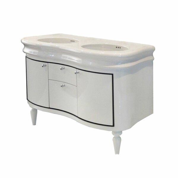 44 Double Bathroom Vanity Base Only