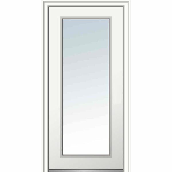Verona Home Design Full Lite Primed Prehung Front Entry Door Wayfair