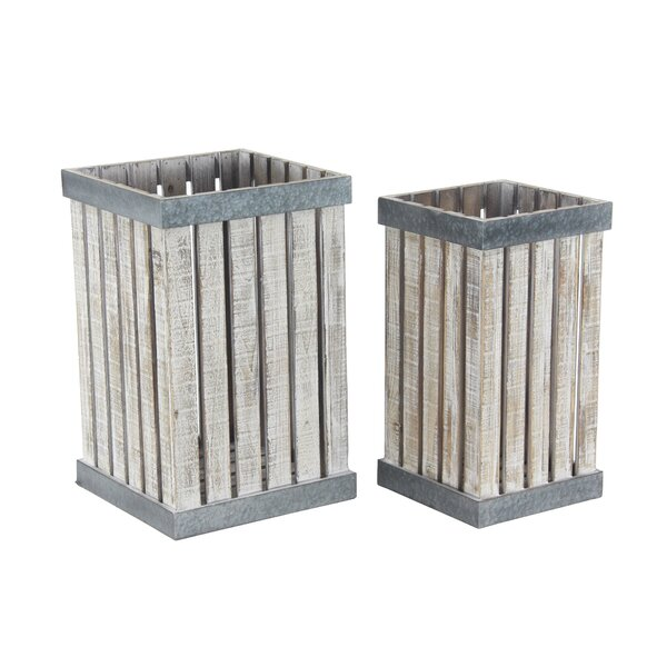 Slatted Vertical 2-Piece Planter Box Set by Cole & Grey