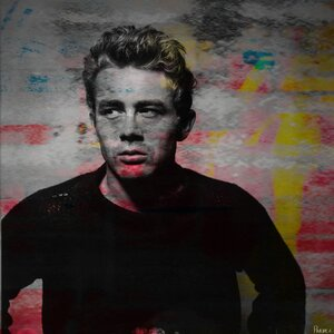 'James Dean - Torn Sweater #1' by Parvez Taj Painting Print on Wrapped Canvas by Parvez Taj