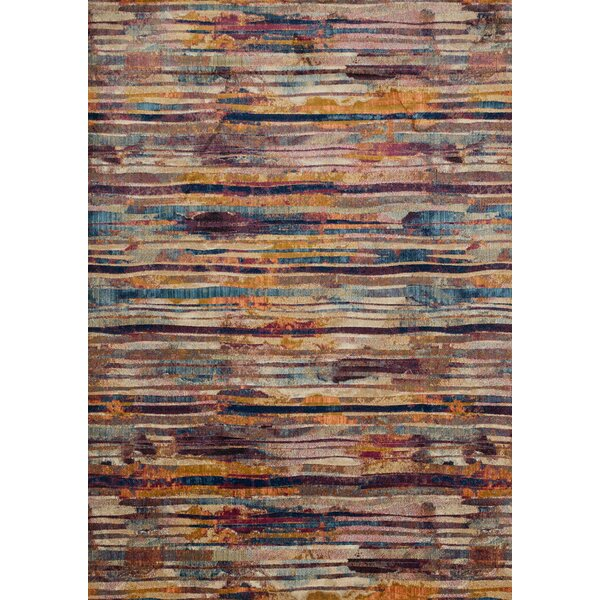 Dangelo Red/Brown Area Rug by Wrought Studio