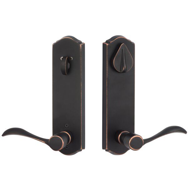 Rustic Series Single Cylinder One Piece Leverset by Sure-Loc Hardware