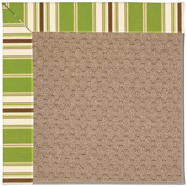 Lisle Machine Tufted Green/Brown Indoor/Outdoor Area Rug by Longshore Tides