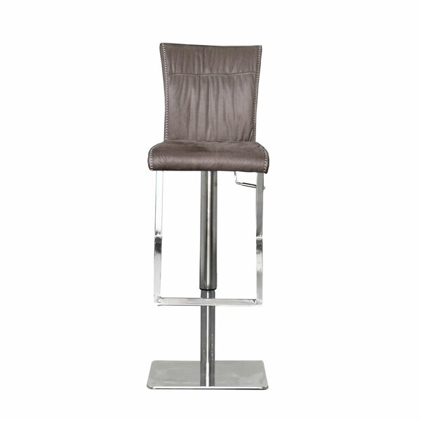 Gruyeres Swivel Adjustable Height Bar Stool by Orren Ellis Orren Ellis