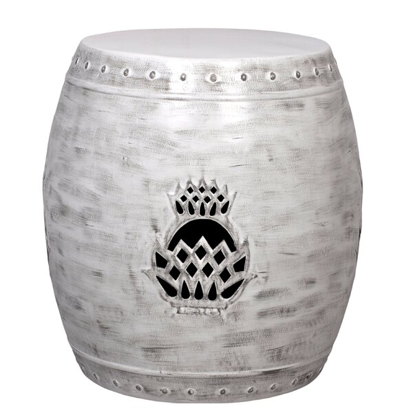 Pineapple Drum Garden Stool by Fashion N You by Horizon Interseas