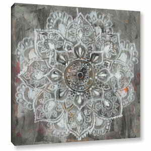 'Mandala In Neutral II' Painting Print on Wrapped Canvas by Bungalow Rose