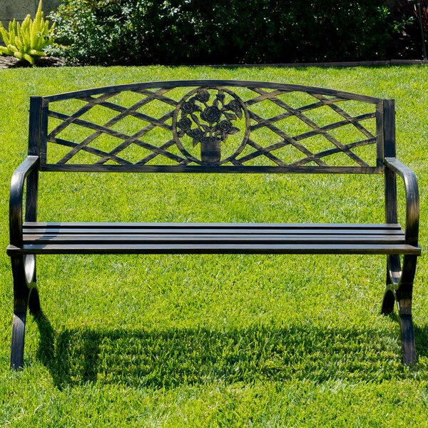 Olguin Outdoor Steel Park Bench By August Grove