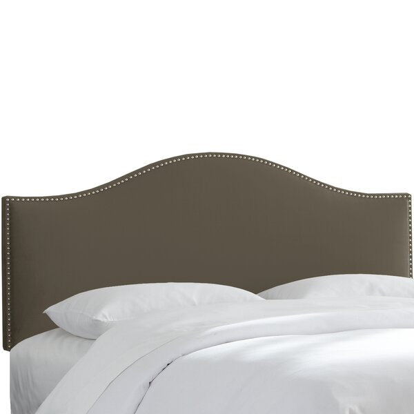 Brighton Nail Button Arc Upholstered Panel Headboard by House of Hampton