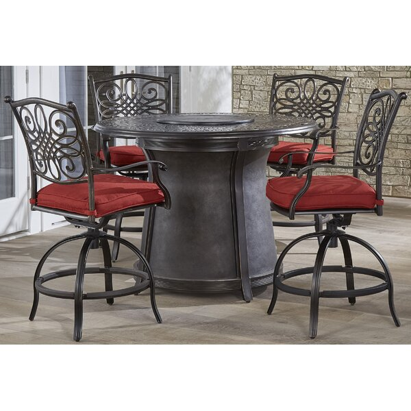 Carleton 5 Piece High Dining Set by Fleur De Lis Living