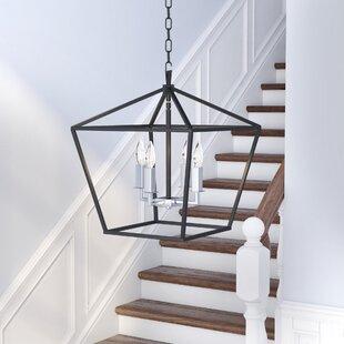 Extra large foyer chandelier wayfair beckford 4 light foyergeometric chandelier aloadofball Image collections