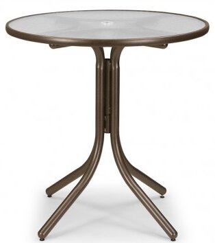 Glass 42 Round Balcony Height Dining Table by Telescope Casual