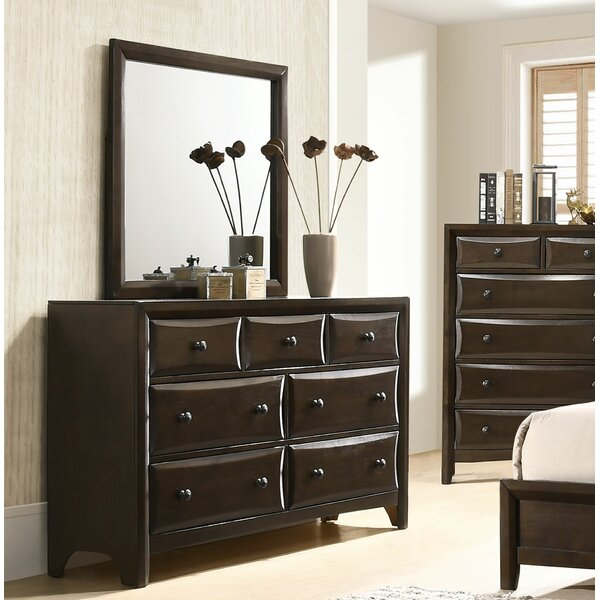 Arabelle 7 Drawer Dresser with Mirror by Latitude Run